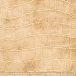 Fabricut Tin Faux Leather Parchment