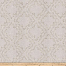Fabricut Yasa Lattice Linen Blend Natural Fabric