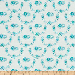 Tanya Whelan Shades of Rose Trellis Teal Fabric