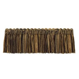 "Jaclyn Smith 2"" 01875 Brush Fringe Black/Gold"