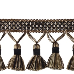 "Trend 3.5"" 02497 Tassel Fringe Black Pepper"