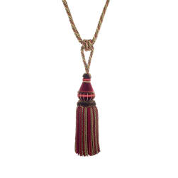"Trend 32"" 02500 Single Tassel Tieback Crimson"