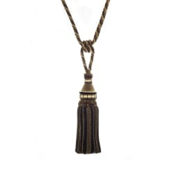 "Trend 32"" 02500 Single Tassel Tieback Black Pepper"