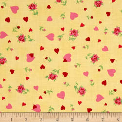 Verna Mosquera Love & Friendship Heartfelt Butter Fabric
