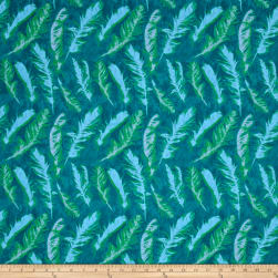 Nel Whatmore Ghost Feather Green Fabric