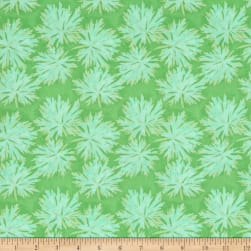 Nel Whatmore Ghost Geranium Green Fabric
