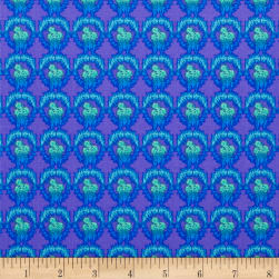 Nel Whatmore Ghost Verbena Blue Fabric