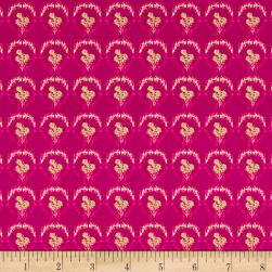 Nel Whatmore Ghost Verbena Raspberry Fabric