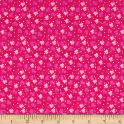 Nel Whatmore Ghost Leaf Dot Pink Fabric