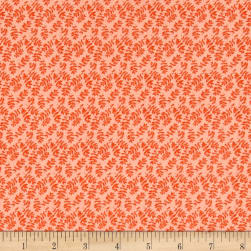 Nel Whatmore Ghost Rohan Leaf Orange Fabric