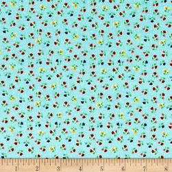 Riley Blake Arbor Blossom Flowers Aqua Fabric