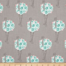 Riley Blake Curiosities Ostrich Gray Fabric