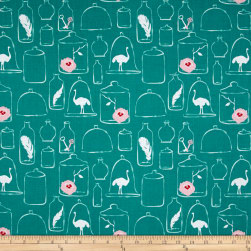 Riley Blake Curiosities Jars Teal Fabric
