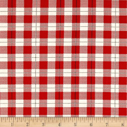 Riley Blake Comfort and Joy Plaid Red Fabric