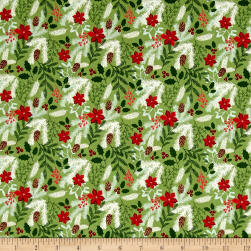 Riley Blake Comfort and Joy Main Green Fabric