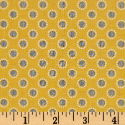 Penny Rose Linen and Lawn Circle Yellow Fabric