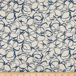 Lacefield Honeycomb Linen Blend Basketweave Indigo Danish Linen Fabric