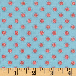 Penny Rose Linen and Lawn Circle Blue Fabric