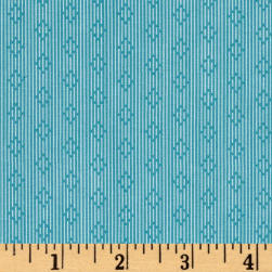 Penny Rose Linen and Lawn Stripe Blue Fabric
