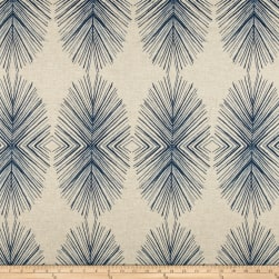 Lacefield Designs Tulum Linen Blend Basketweave Indigo Danish Linen Fabric