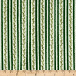 Anne of Green Gables Stripe Green Fabric