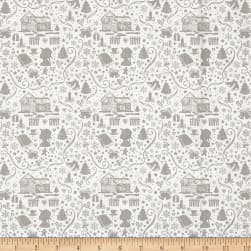 Anne of Green Gables Silhouette Gray Fabric
