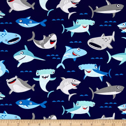 Riley Blake Sharktown Main Navy