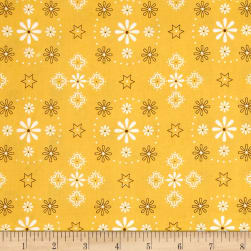 "Riley Blake Bee Backings and Borders 108"" Quilt Back Bandana Honey"