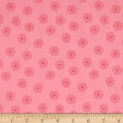 Riley Blake Bee Basics Blossom Pink Fabric