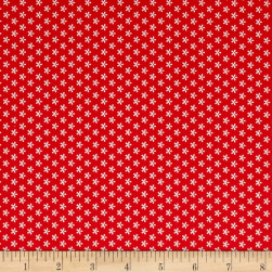 Riley Blake Bee Basics Tiny Daisy Red
