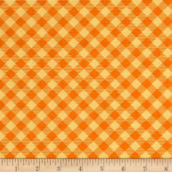 Riley Blake Bee Basics Gingham Orange Fabric