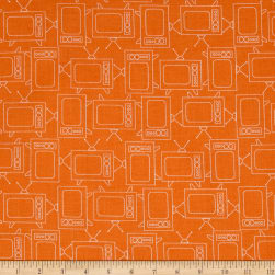 Riley Blake Bee Basics T.V. Orange Fabric
