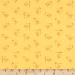 Riley Blake Bee Basics Heart Yellow Fabric