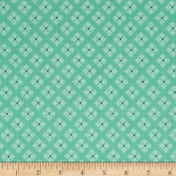 Riley Blake Bee Basics Stitched Flower Teal Fabric