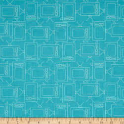 Riley Blake Bee Basics T.V. Turquoise Fabric