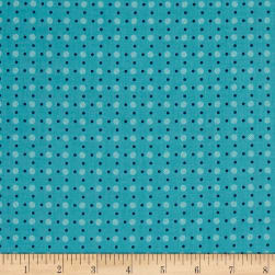 Riley Blake Bee Basics Polka Dot Turquoise Fabric