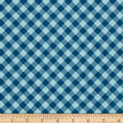 Riley Blake Bee Basics Gingham Blue Fabric
