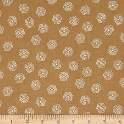 Riley Blake Bee Basics Blossom Nutmeg Fabric