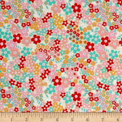 Riley Blake Forget-me-not Fields Red