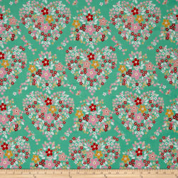 Riley Blake Forget-me-not Main Green Fabric