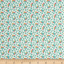 Riley Blake Forget-me-not Petals Green Fabric