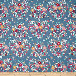 Riley Blake Forget-me-not Main Blue Fabric