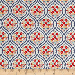 Riley Blake Forget-me-not Chain Blue Fabric