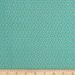 Riley Blake Forget-me-not Confetti Aqua Fabric
