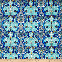 Studio KM Persia Persian Damask Lapis Fabric
