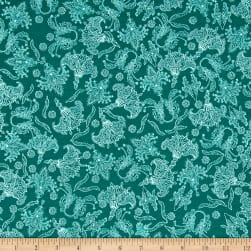 Studio KM Persia Persian Botanical Jade Fabric
