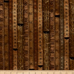 Tim Holtz Dapper Tape Measures Neutral Fabric