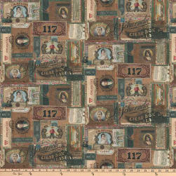 Tim Holtz Dapper Cigar Box Labels Multi Fabric