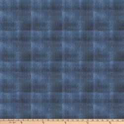 Tim Holtz Dapper Chalk Lines Blue Fabric