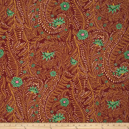 Kaffe Fassett Spring 2017 Ferns Brown Fabric